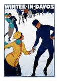 Winter in Davos Poster af Burkhard Mangold