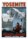 Yosemite, Winter Sports Poster