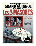 Theatre de Grand Guignol, Les 3 Masques Prints by Adrien Barrere