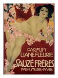 Parfum Liane Fleurie, Sauze Freres Affiche par Leopoldo Metlicovitz