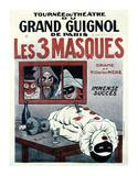 Theatre de Grand Guignol, Les 3 Masques Art by Adrien Barrere