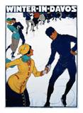 Winter in Davos Posters af Burkhard Mangold