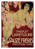 Parfum Liane Fleurie, Sauze Freres Posters by Leopoldo Metlicovitz