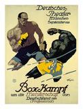 Box-Kampf Posters by Julius Ussy Engelhard