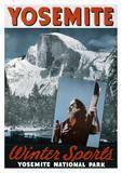Yosemite, Winter Sports Art