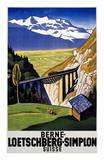 Berne-Loetschberg-Simplon Posters by Eugen Henziross