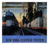 New York Central System, Along the Water Level Route Prints by Leslie Ragan