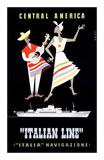 Italian Line, Central America Posters by Alda Sassi