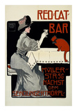 Red Cat Bar Poster by Georges Rogier