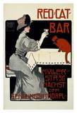Red Cat Bar Prints by Georges Rogier