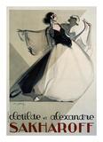 Clotilde et Alexandre Sakharoff Print by Philippe Petit