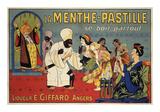 La Menthe-Pastille Plakat af Eugene Oge