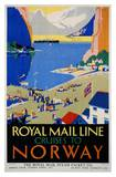 Royal Mail Cruises, Norway Prints by Daphne Padden