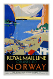 Royal Mail Cruises, Norway Posters by Daphne Padden