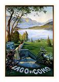 Lago Como Lámina por Elio Ximenes