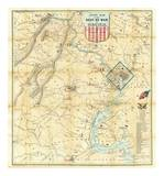 Army Map of The Seat of War In Virginia, c.1862 Posters by J. Goldsborough Bruff