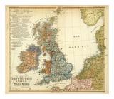 Die Britischen Inseln: Volker und Sprachen, c.1847 Posters by Heinrich Berghaus