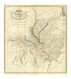 Map of the States of Illinois & Missouri, c.1823 Prints by Lewis C. Beck