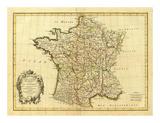 France, carte generale, c.1786 Poster par Rigobert Bonne