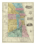 Guide Map of Chicago, c.1869 Poster by Rufus Blanchard