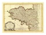 Bretagne, c.1786 Plakaty autor Rigobert Bonne