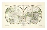 Karte Der Magnetischen Meridiane und Parallel-Kreise, c.1840 Posters by Heinrich Berghaus