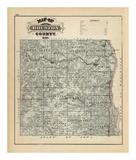 Map of Houston County, Minnesota, c.1874 Poster by A. T. Andreas