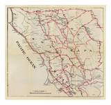 California: Sonoma, Marin, Lake, and Napa Counties, c.1896 Posters by George W. Blum