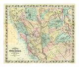 New Map of Central California, c.1871 Prints by A. L. Bancroft