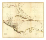 Composite: West Indies, c.1810 Posters by Aaron Arrowsmith
