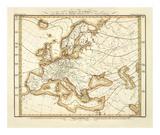 Karte Von Europa, c.1837 Art by Heinrich Berghaus