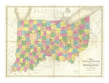 Map of Ohio and Indiana, c.1839 Posters by David H. Burr