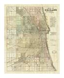 Map of Chicago, c.1857 Posters by Rufus Blanchard