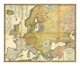 Ethnographische Karte von Europa, c.1847 Posters by Heinrich Berghaus