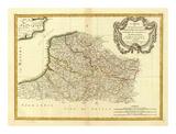 Flandre francoise, Artois, Picardie, Boulenois, c.1785 Poster by Rigobert Bonne
