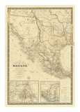 Nouvelle Carte du Mexique, Du Texas, c.1840 Prints by Adrien Hubert Brue