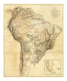 South America, c.1814 Prints by Aaron Arrowsmith