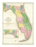 Map of Florida, c.1839 Posters by David H. Burr