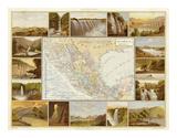 Carta Hydrografica, c.1885 Prints by Antonio Garcia Cubas
