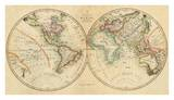 Map of the World, c.1820 Prints by John Melish