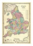 England and Wales, c.1856 Prints by G. W. Colton
