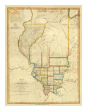 Map of Illinois, c.1820 Prints by John Melish