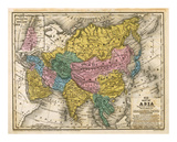 Map of Asia, c.1839 Print by Samuel Augustus Mitchell