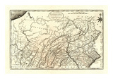 State of Pennsylvania, c.1795 Kunstdrucke von Mathew Carey