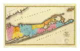 New York, Suffolk County, c.1829 Print by David H. Burr
