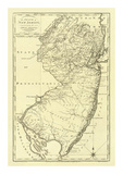 State of New Jersey, c.1795 Art by Mathew Carey