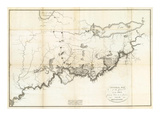General Map of the Course of the Ohio, c.1796 Prints by George Henri Victor Collot