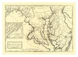 State of Maryland, c.1795 Poster von Mathew Carey