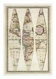 Globo Terrestre I, c.1792 Prints by Giovanni Maria Cassini