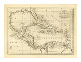 Chart of the West Indies, c.1811 Poster von Mathew Carey